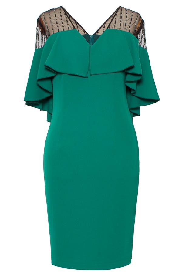 Rochie eleganta R 160 verde