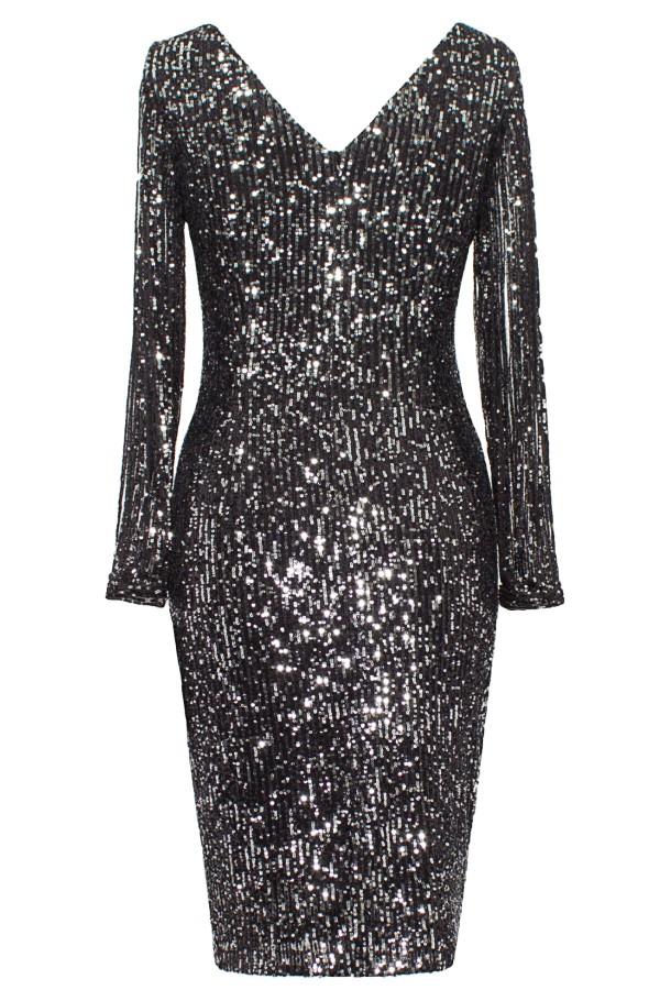 Rochie eleganta R 182 negru