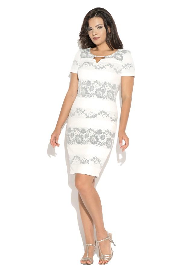 Costum cu rochie 9375 gri