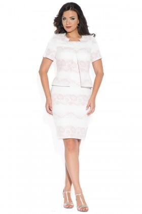 Costum cu rochie 9375 roz