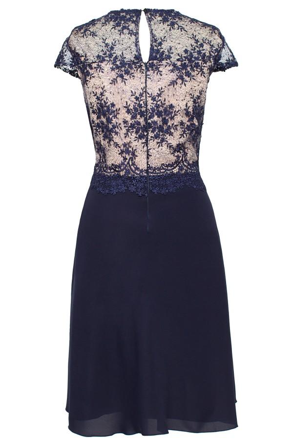 Rochie eleganta R 169 bleumarin