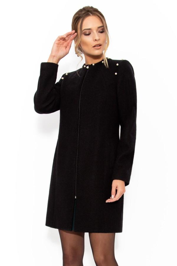 Mantou din lana cu angora 7233 negru