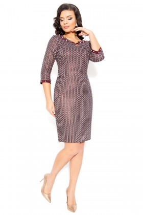 Rochie casual R 205 grena