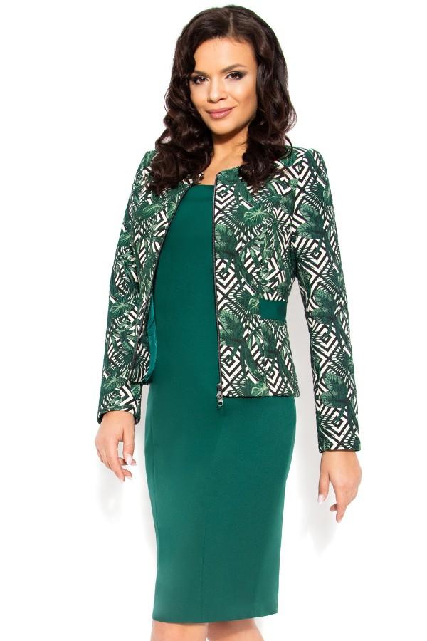 Costum cu rochie 9382 verde