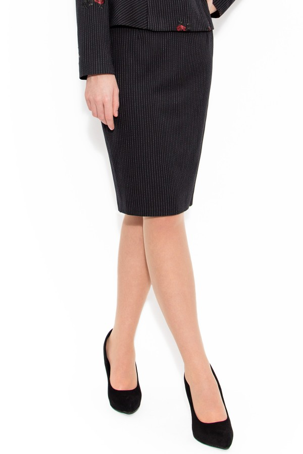 Fusta casual-office F 1437 negru