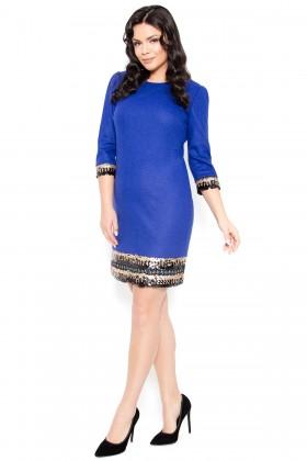 Rochie casual R 216 albastru