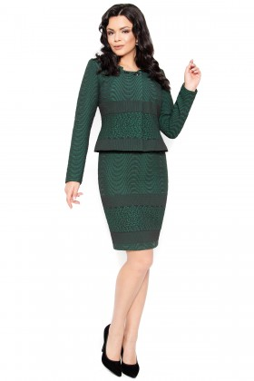 Costum cu rochie 9393 verde