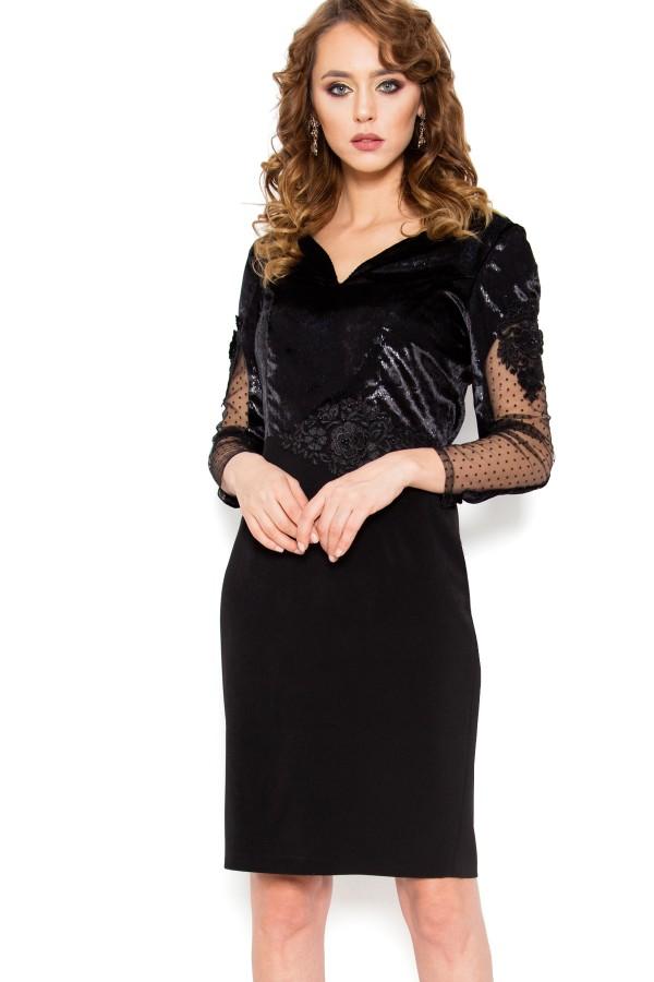Rochie eleganta R 078 negru