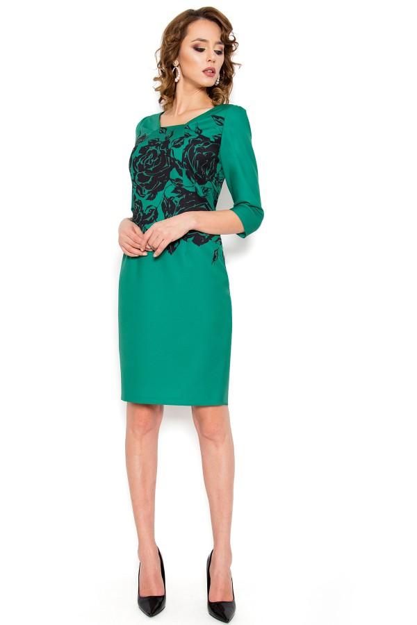 Rochie casual R 221 verde