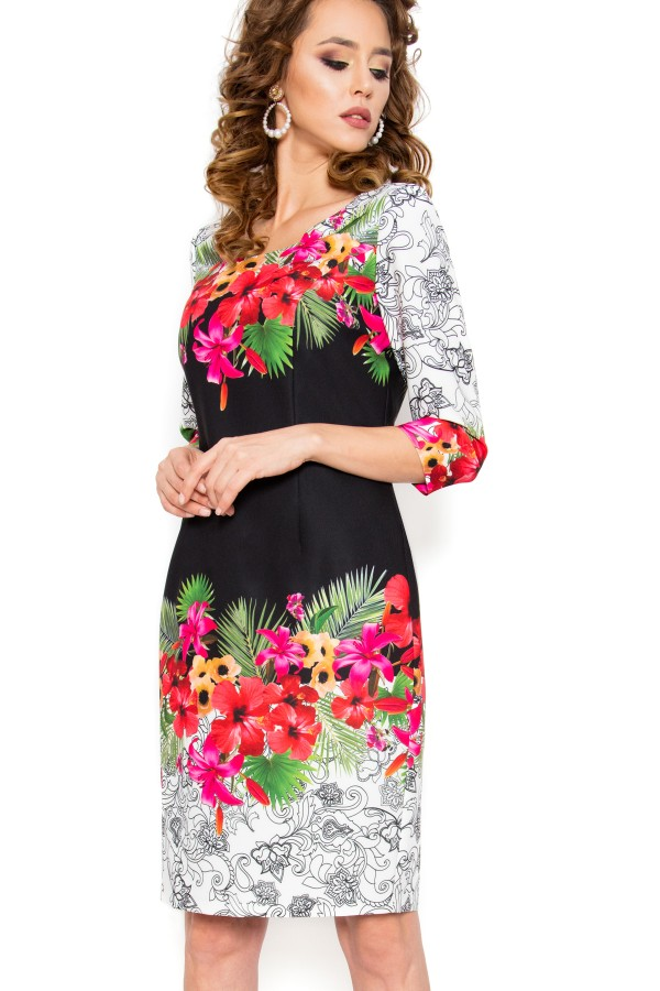 Rochie casual R 197 model floral
