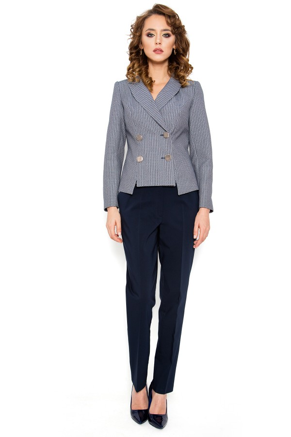 Costum cu pantalon 2310 bleumarin