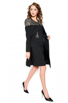 Pardesiu cu rochie 7715 negru