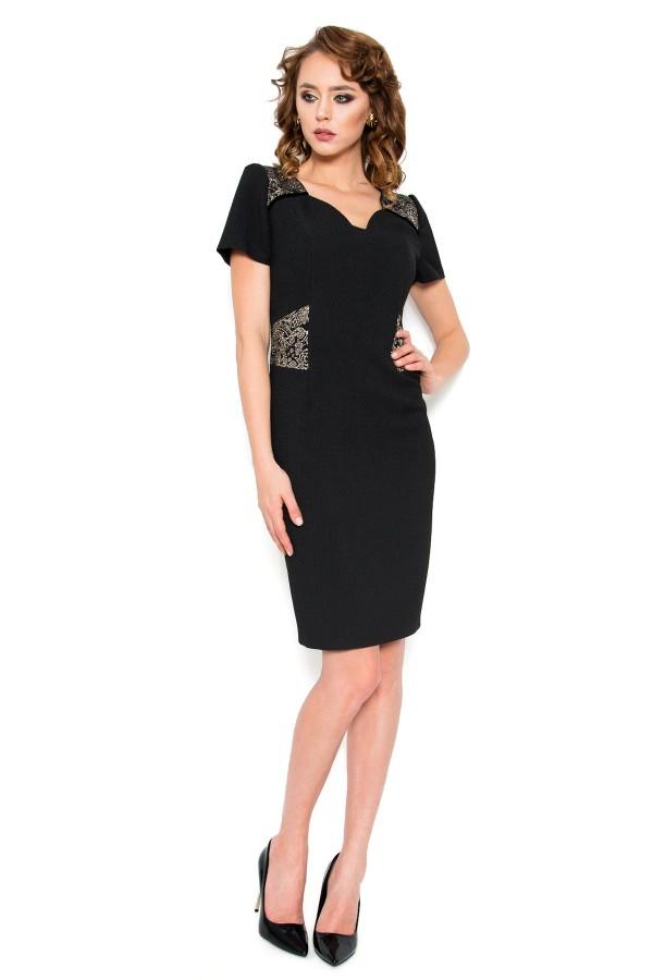 Costum cu rochie 7715 negru
