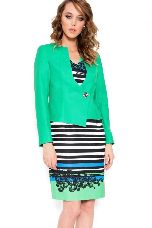 Costum cu rochie 9385 verde