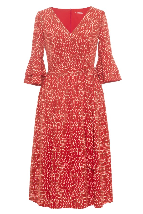 Rochie casual R 304 rosu