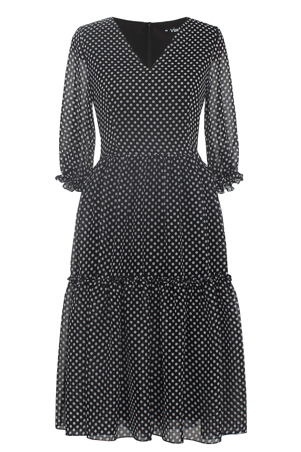 Rochie casual R 296 negru