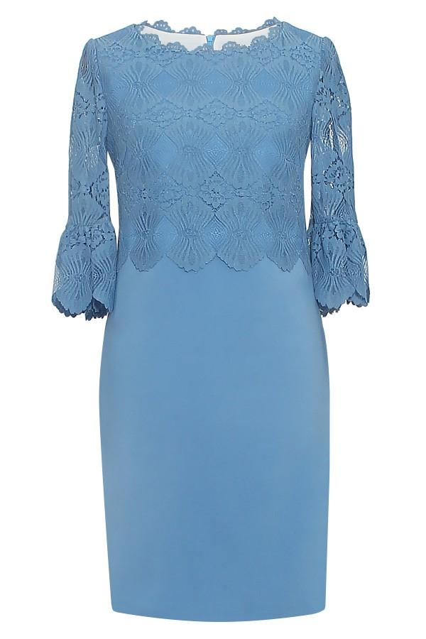 Rochie eleganta R 261 bleu