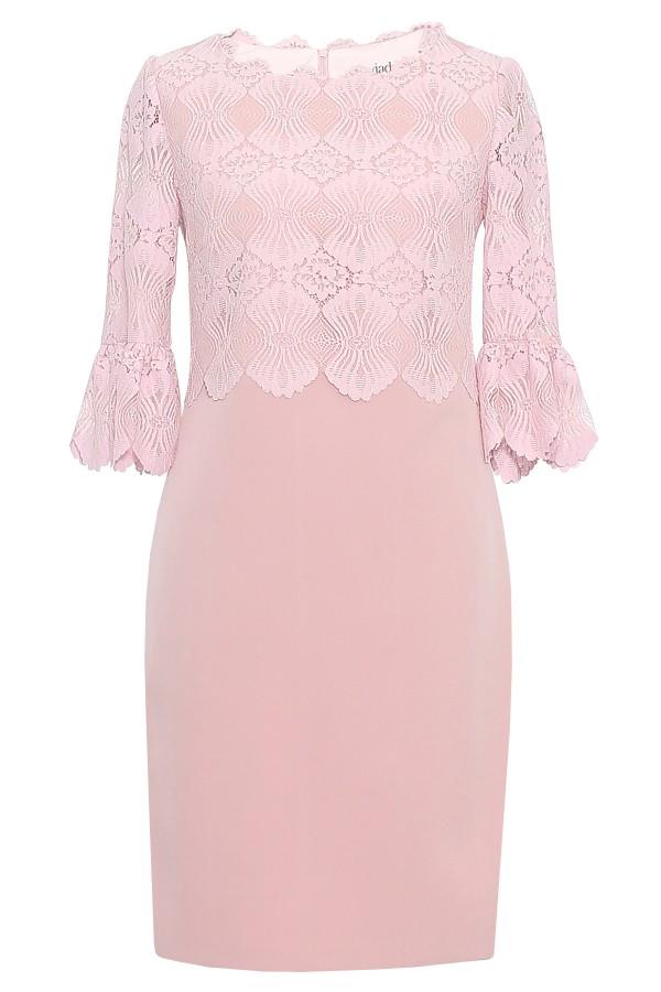 Rochie eleganta R 261 roz