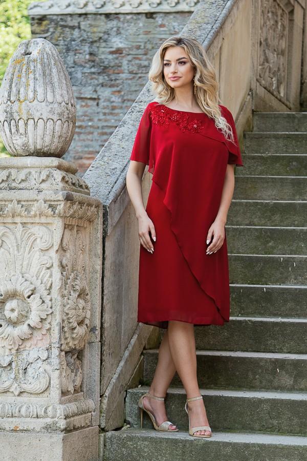 Rochie eleganta R 254 rosu