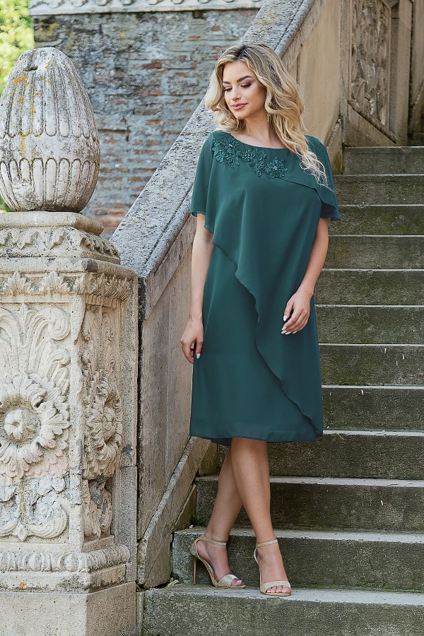 Rochie eleganta R 254 verde