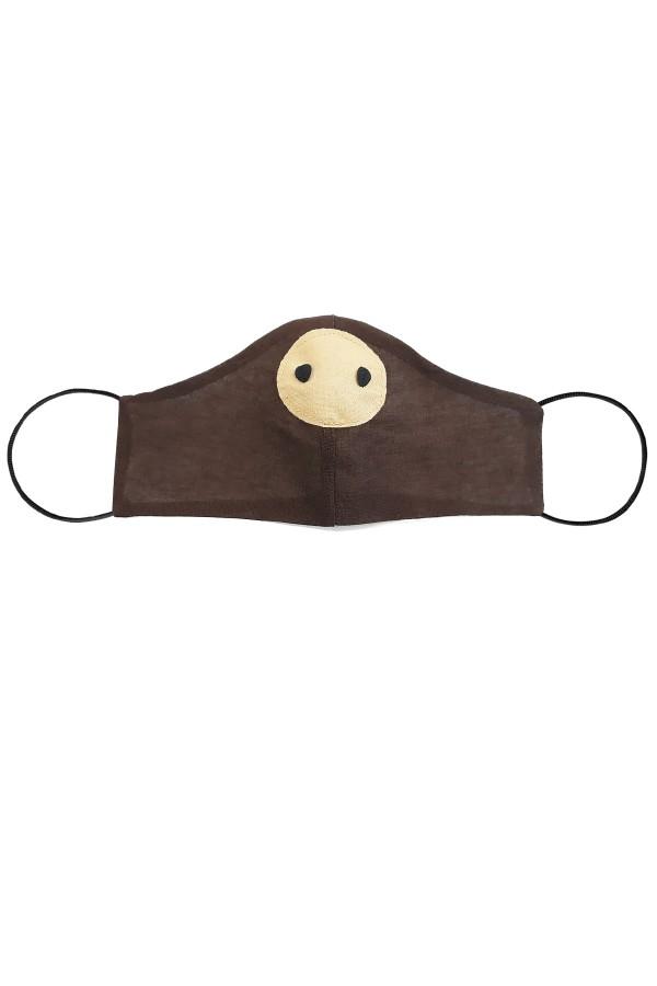 Masca anatomica pentru copii model purcelus maro