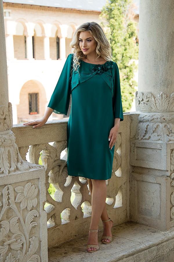 Rochie eleganta R 302 verde