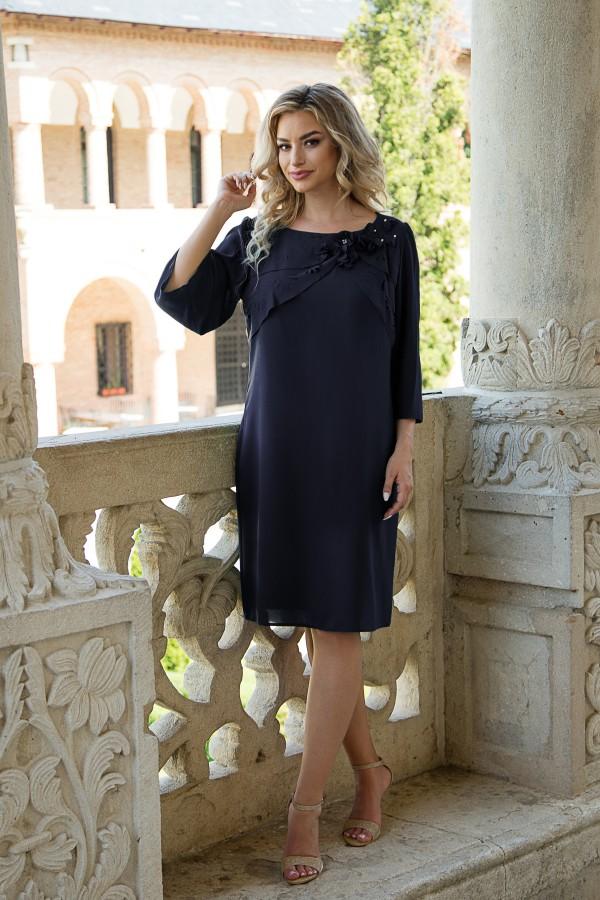 Rochie eleganta R 302 bleumarin