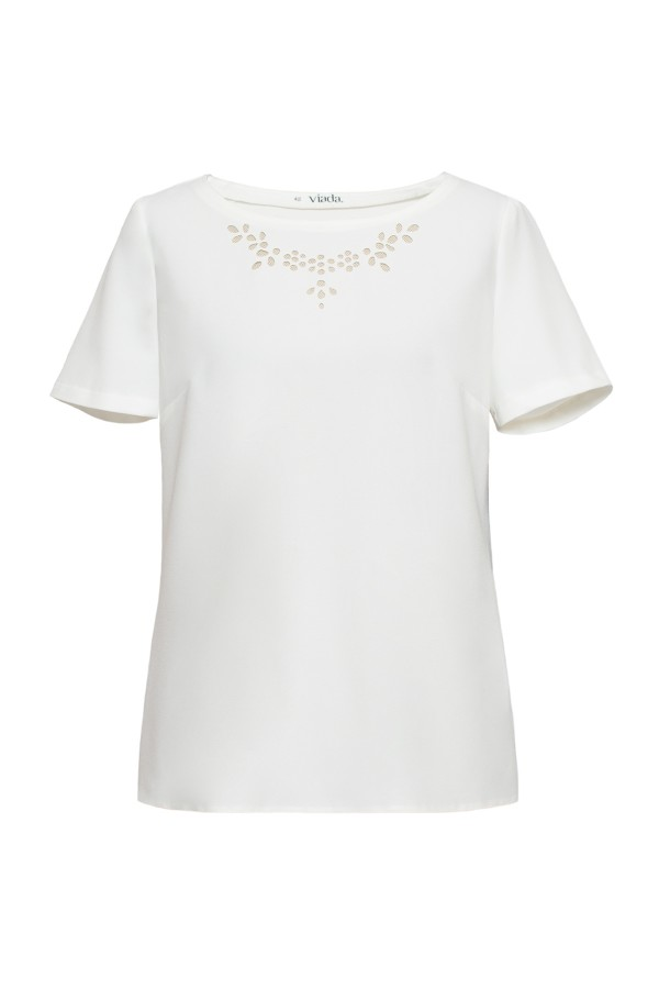 Bluza casual B 136 crem