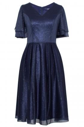Rochie eleganta cu sclipici R 175 bleumarin