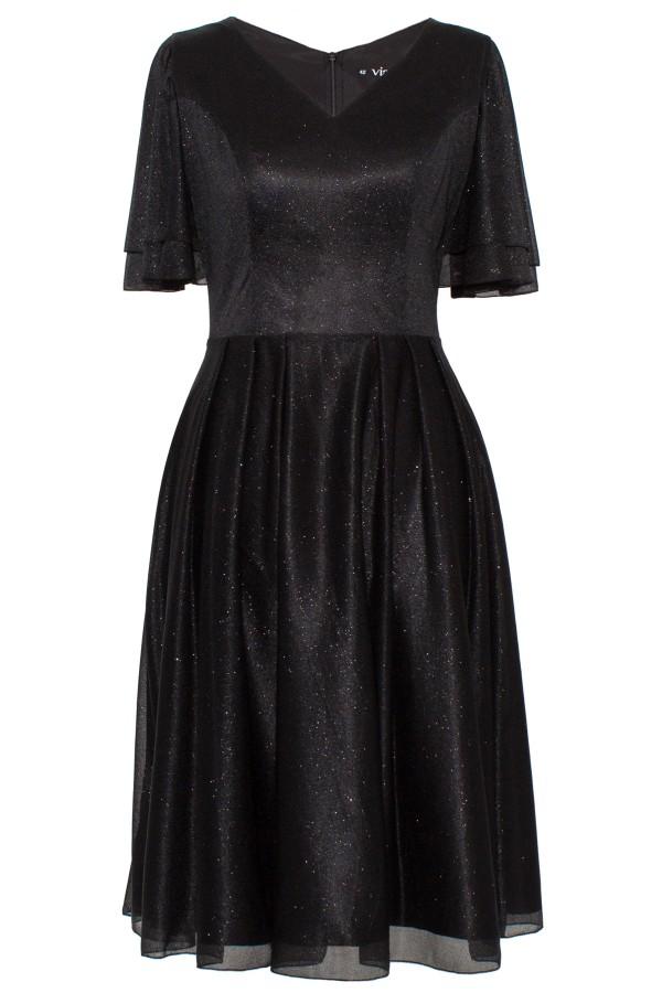 Rochie eleganta cu sclipici R 175 negru