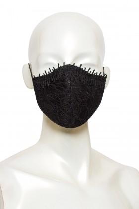 Masca anatomica eleganta dantela neagra