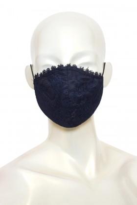 Masca anatomica eleganta dantela bleumarin