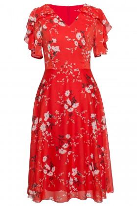 Rochie din voal R 314 rosu