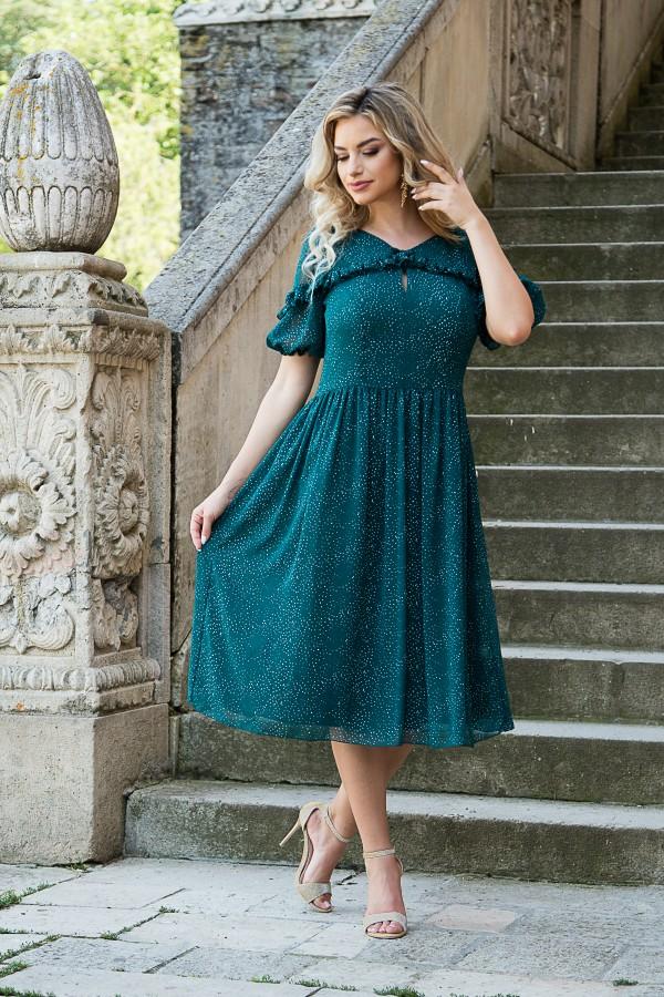 Rochie casual R 297 verde