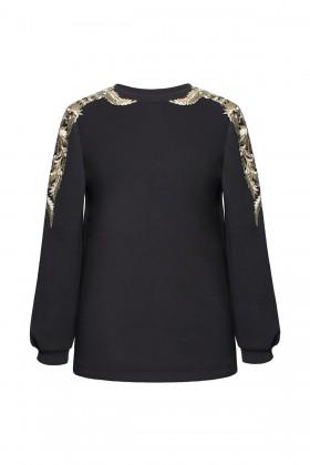 Bluza casual B 148 negru