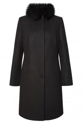 Palton din stofa 7262 negru