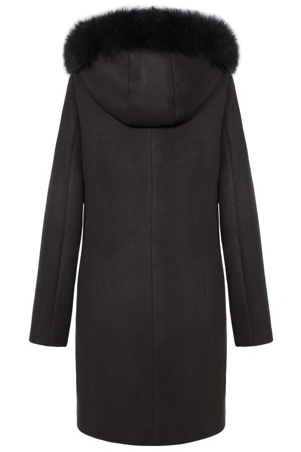 Palton cu gluga 7283 negru