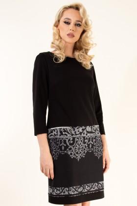 Rochie casual R 386 negru