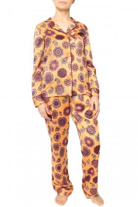 Pijama dama 2321 galben-mustar