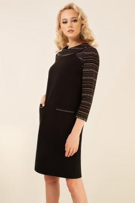Rochie casual R 388 negru