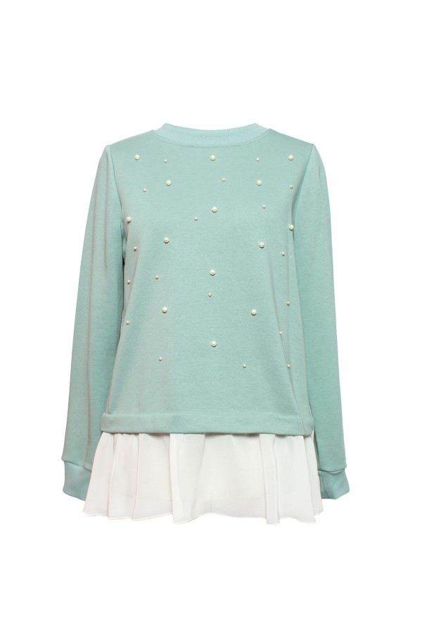 Bluza casual B 149 verde