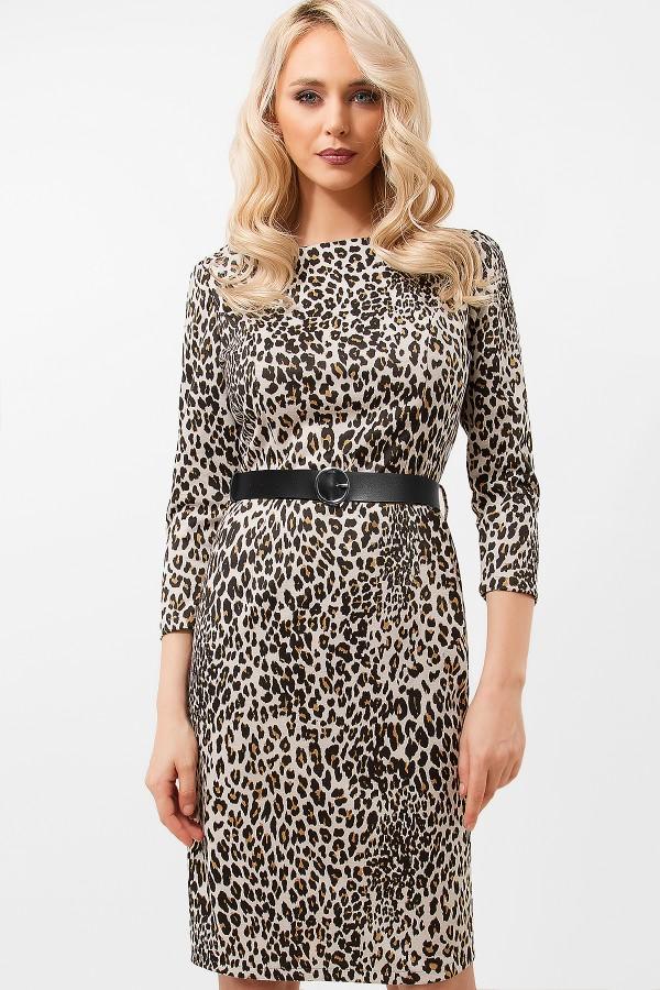 Rochie casual R 411 leopard