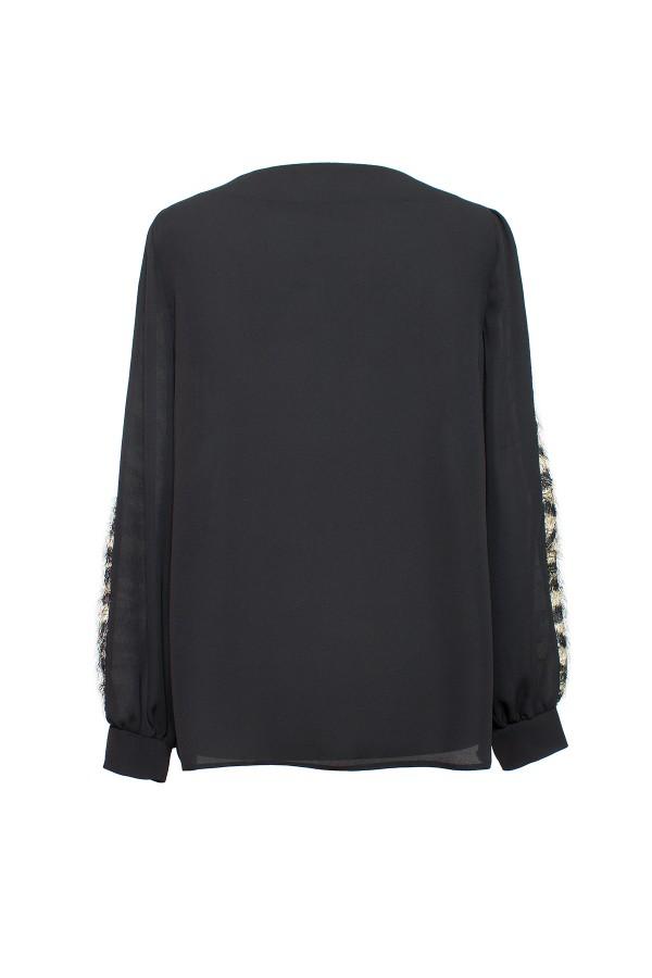 Bluza casual B 162 negru