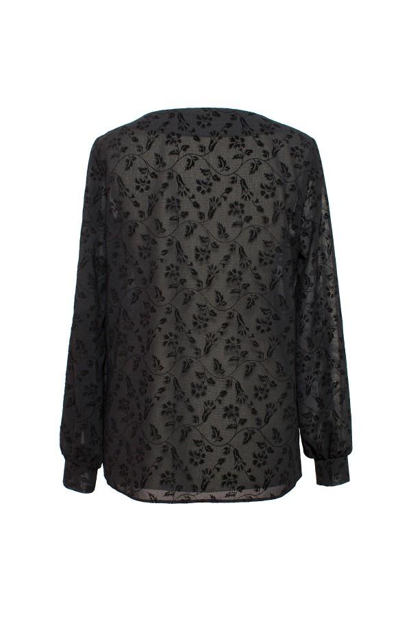 Bluza casual B 162 negru romburi