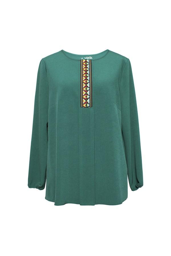 Bluza casual B 164 verde 4