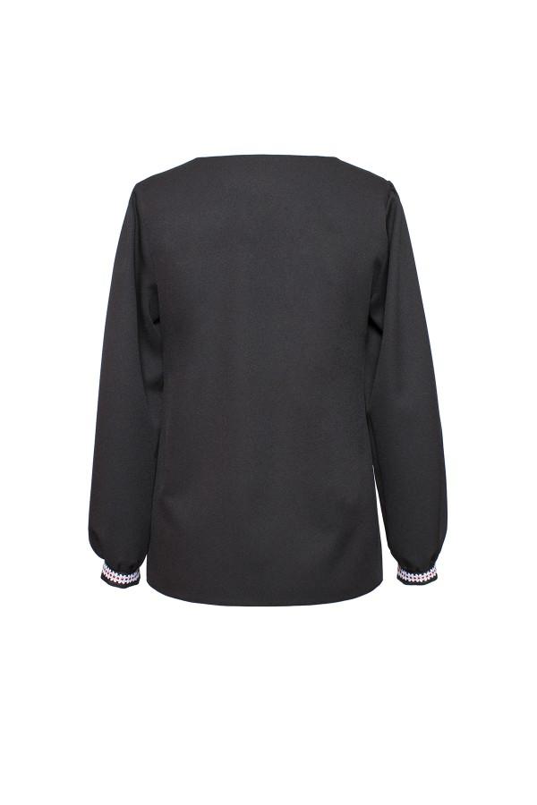Bluza casual B 160 broderie alba