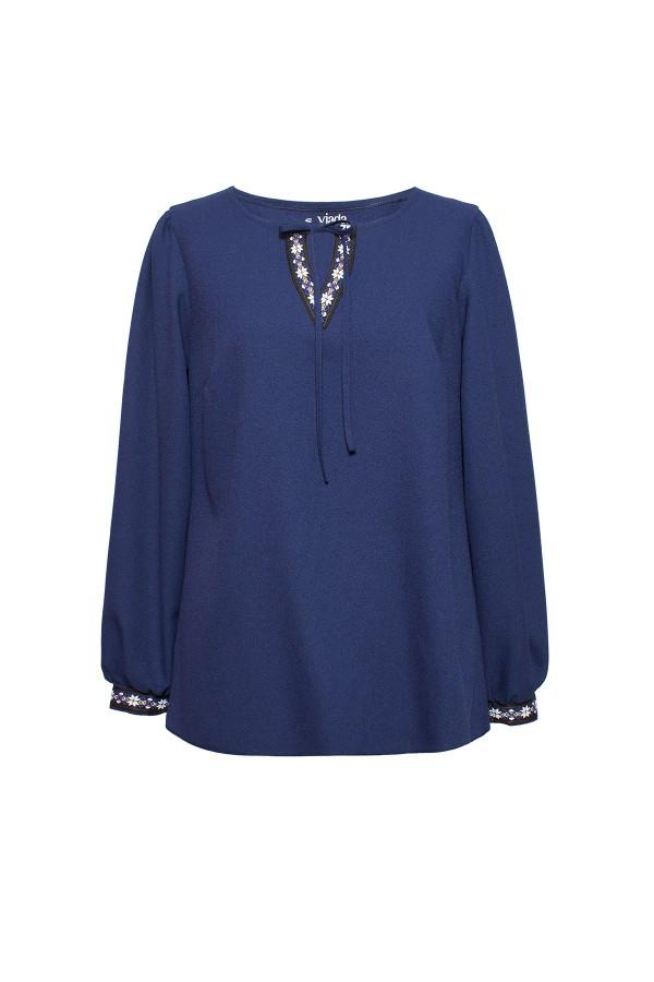 Bluza casual B 160 bleumarin