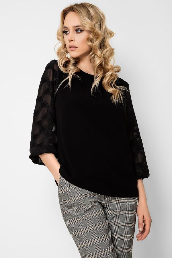 Bluza casual B 165 negru