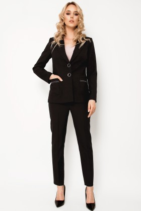 Costum cu pantalon 2322 negru