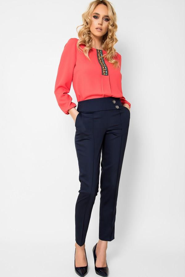 Pantalon casual P 146 bleumarin
